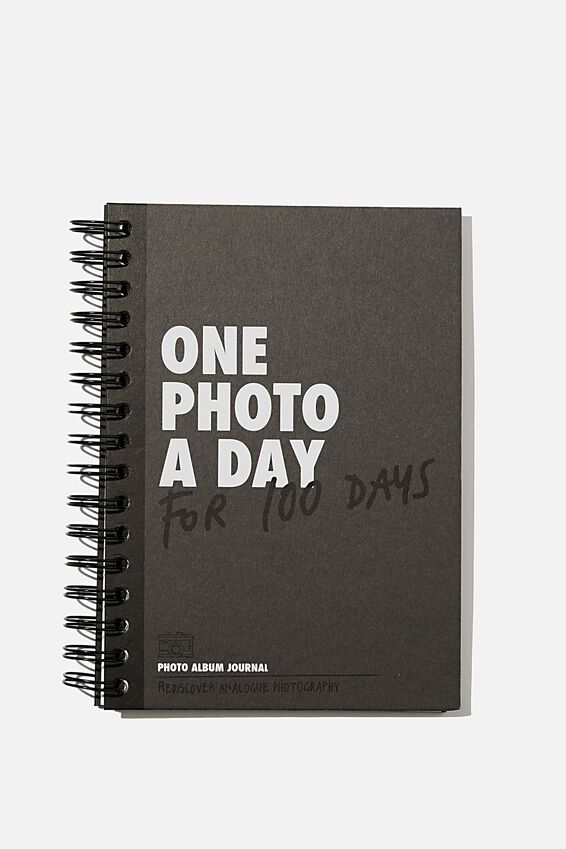 """A5 Fashion Activity Journal (8.27"""" x 5.83""""), ONE PHOTO A DAY GREY"""
