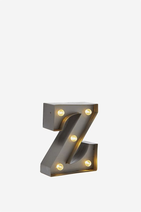 Mini Marquee Letter Lights 10cm, SILVER Z