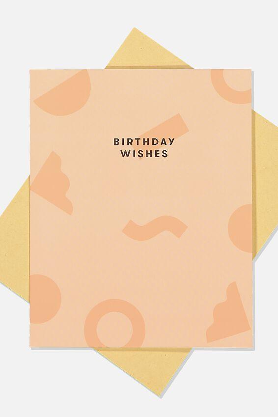 Nice Birthday Card, BIRTHDAY WISHES SHAPES