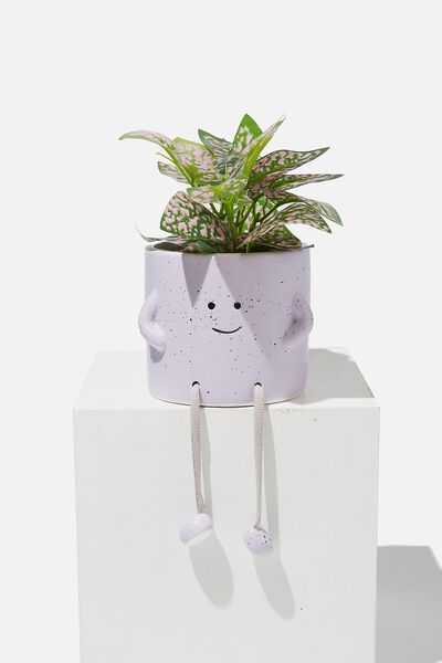 Midi Shaped Planter, PALE LILAC ROPE LEGS