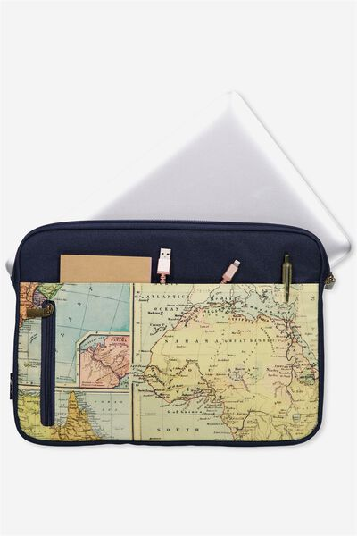 "Take Charge Laptop Cover 13"", MAP QUEST"