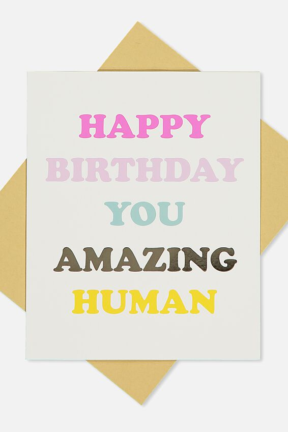 Premium Nice Birthday Card, AMAZING HUMAN