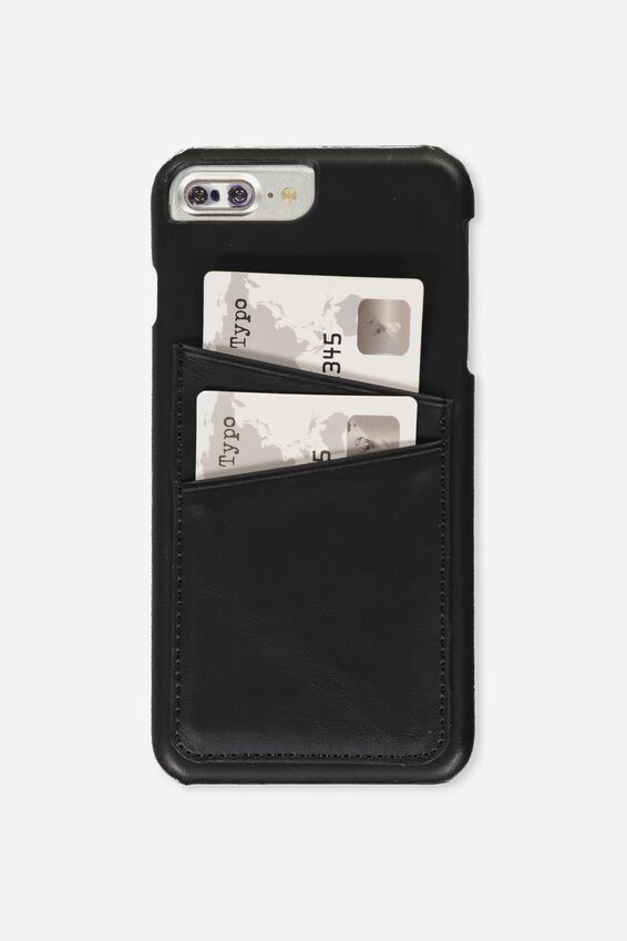 The Cardholder Phone Cover 6,7,8 Plus, BLACK