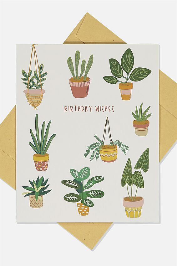 Nice Birthday Card, PLANTS BIRTHDAY WISHES