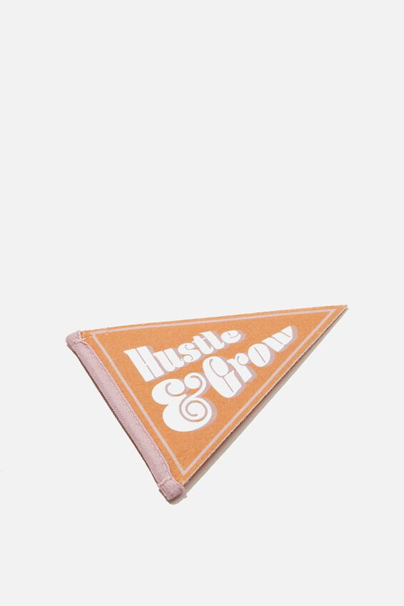 Mini Pennant Flag, HUSTLE & GROW