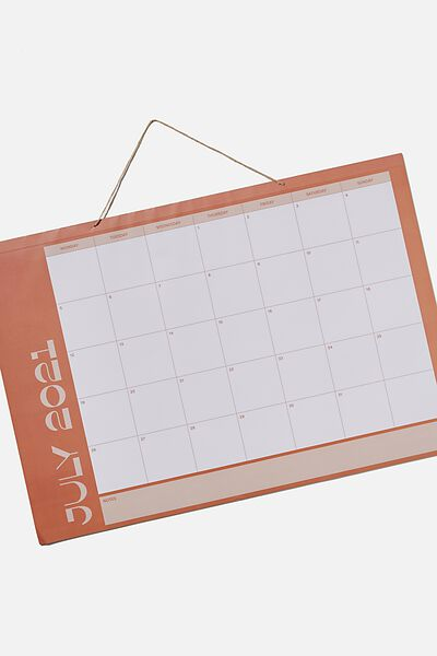 2021 22 A1 Hanging Calendar, RUST
