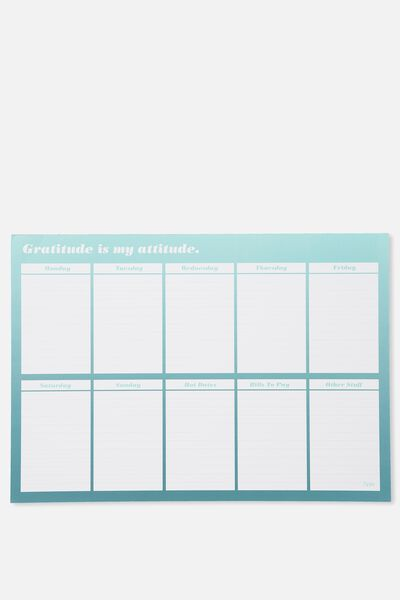 A3 Extra Large Plan Ahead Planner, TEAL OMBRE