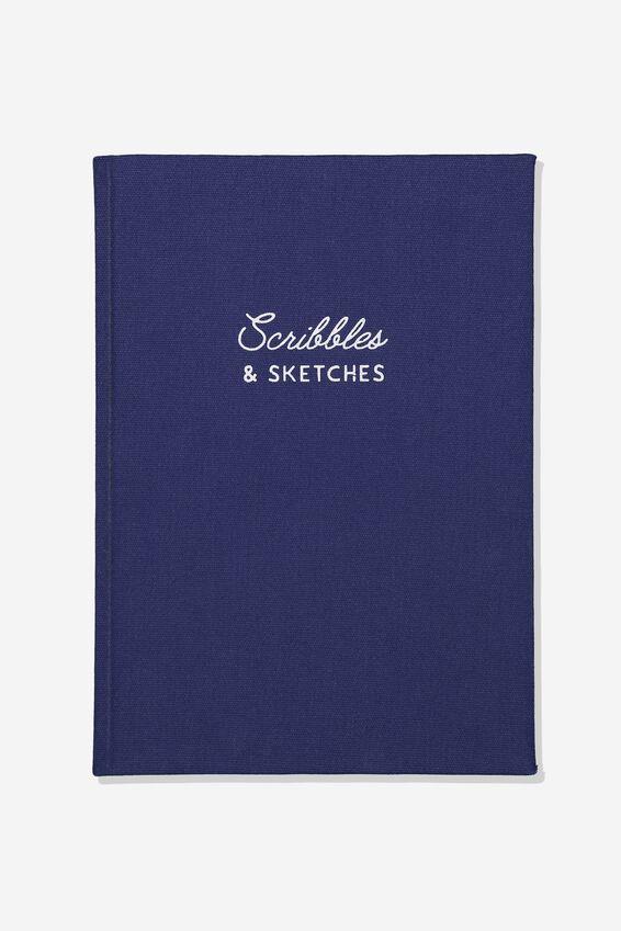 A4 Sketch Notebook, NAVY