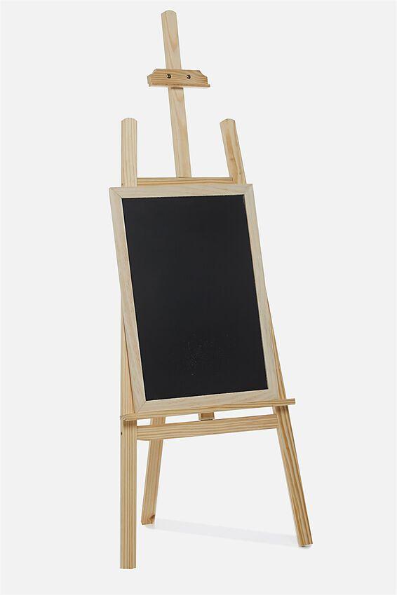 Easel & Chalkboard, NATURAL