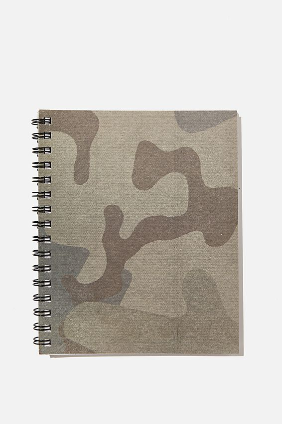 A5 Campus Notebook Recycled, CAMO PRINT