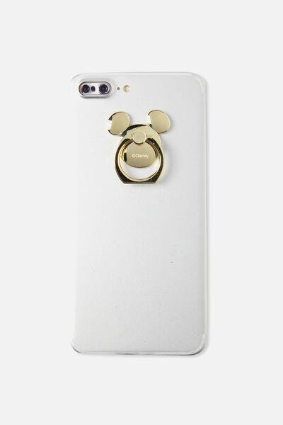 Metal Phone Ring, LCN GOLD MICKEY HEAD