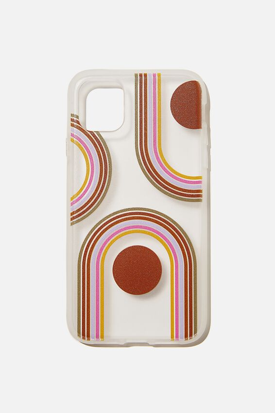 Protective Phone Case iPhone 11, OVERSIZED RAINBOW