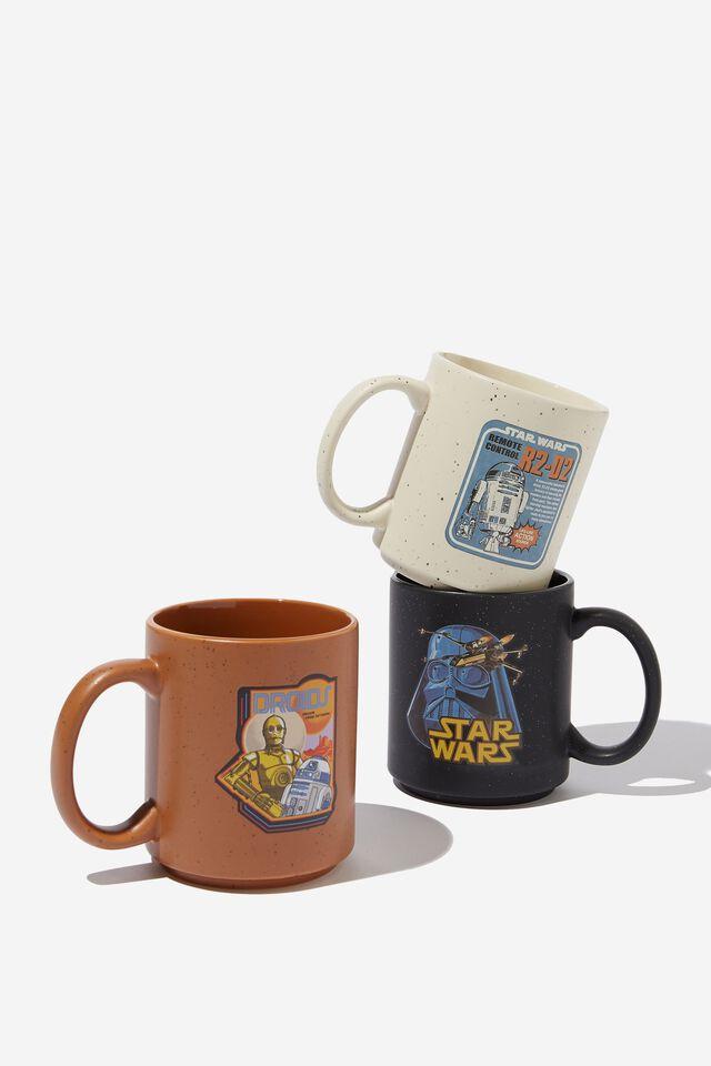 Star Wars Pack of 3 Mugs, LCN LUC STAR WARS