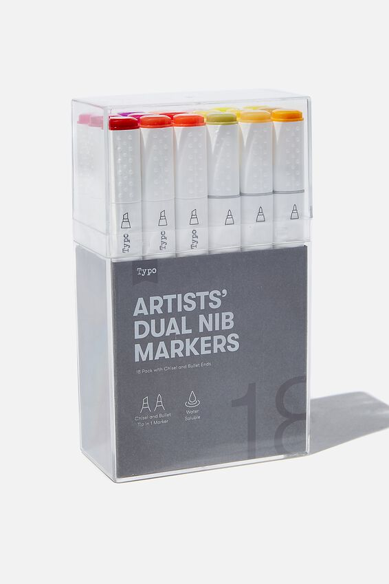 Artists Dual Nib Marker 18Pk, SUMMER SUNSET