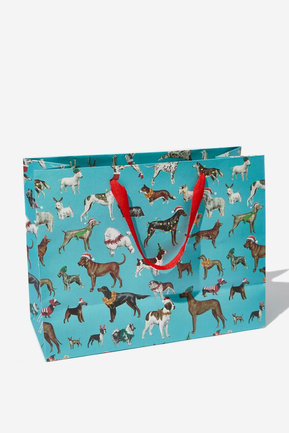 Stuff It Gift Bag - Medium, FESTIVE DOGS