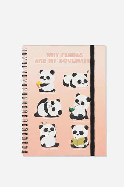 A5 Spinout Notebook Recycled, PANDA SOULMATE