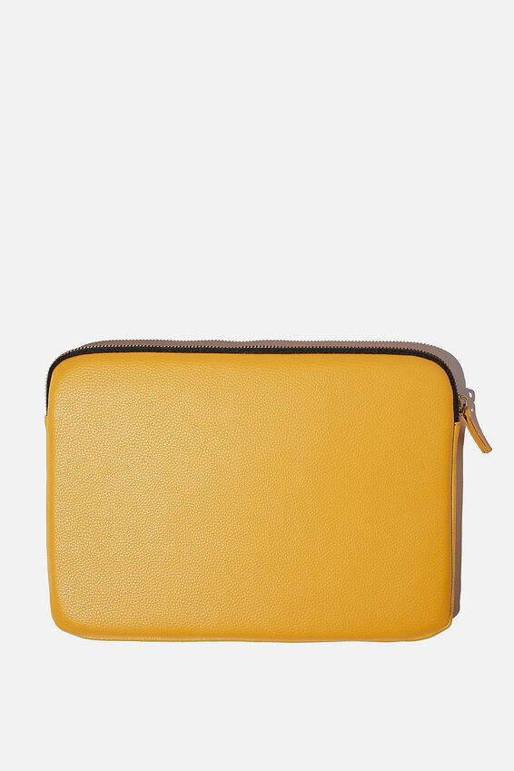 Core Laptop Cover 13 Inch, MUSTARD