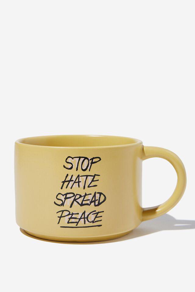 Big Hit Mug, STOP HATE SPREAD PEACE