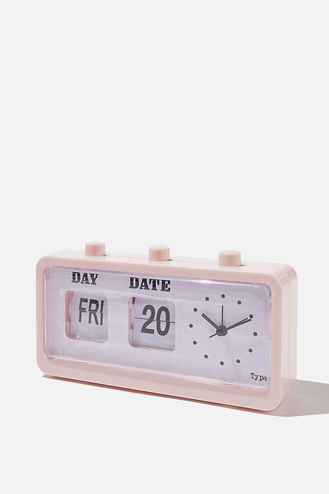 Retro Flip Clock, PALE PINK