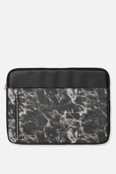 Take Charge 15 Inch Laptop Cover, BLACK MARBLE