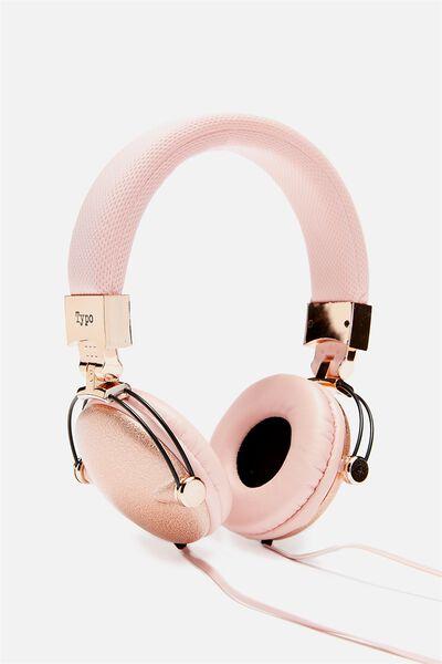 Tune Out Headphones, BLUSH GLITTER