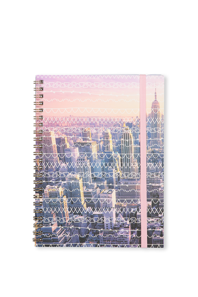 Small Spinout Notebook Usa 8X6, SCRIBBLE NYC