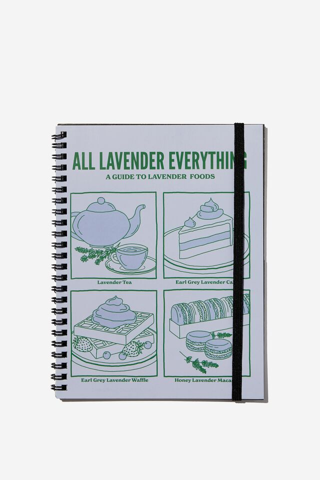 A5 Spinout Notebook Recycled, RG ASIA ALL LAVENDER EVERYTHING