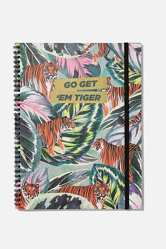 A4 Spinout Notebook Recycled, GET EM TIGER
