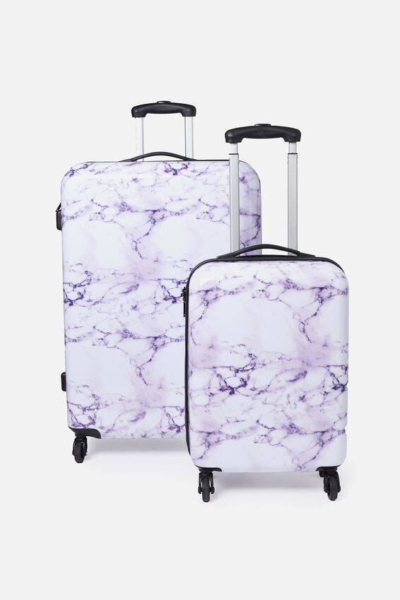 Suitcase Luggage Set, LUSH MARBLE