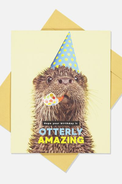 Nice Birthday Card, OTTERLY AMAZING
