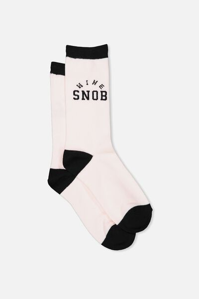 Womens Novelty Socks, WINE SNOB!