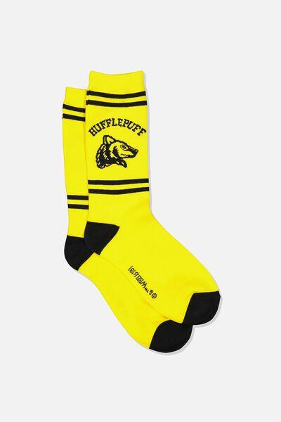 Mens Novelty Socks, LCN WB HUFFLEPUFF HOUSE