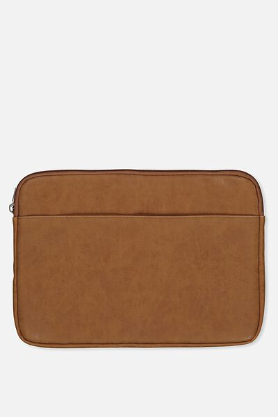 """Take Charge Laptop Cover 13"""", MID TAN FLORAL"""