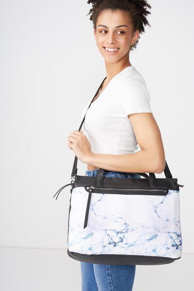 Laptop Tote Bag, LUSH MARBLE