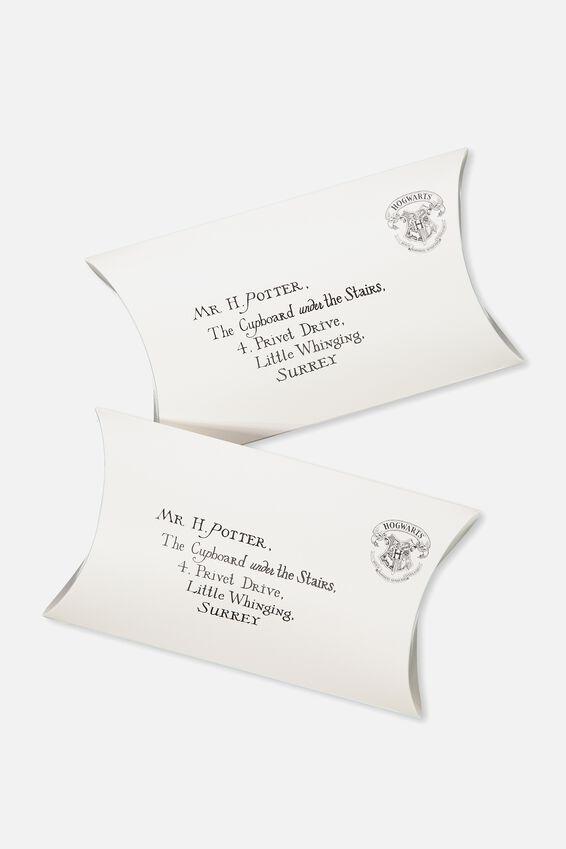 Flat Pack Gift Boxes Med 2pk, LCN HOGWARTS ACCEPTANCE LETTER