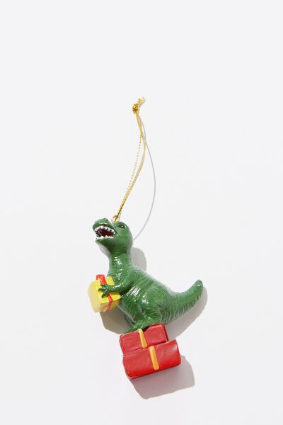 Christmas Ornament, T-REX ON PRESENTS