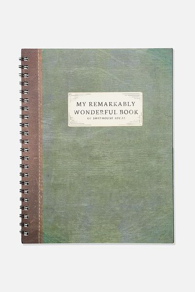 A4 Campus Notebook Recycled, MY REMARKABLE BOOK
