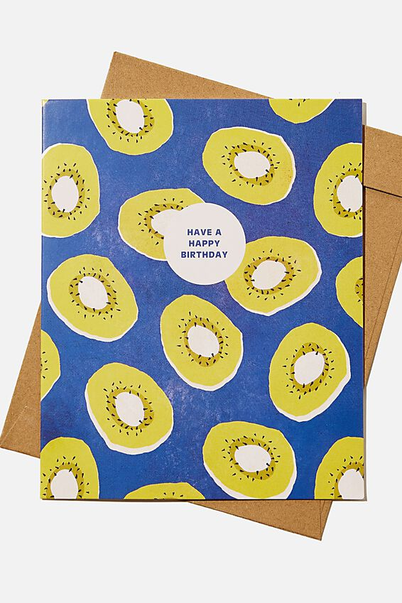 Nice Birthday Card, RG NZ KIWI FRUIT