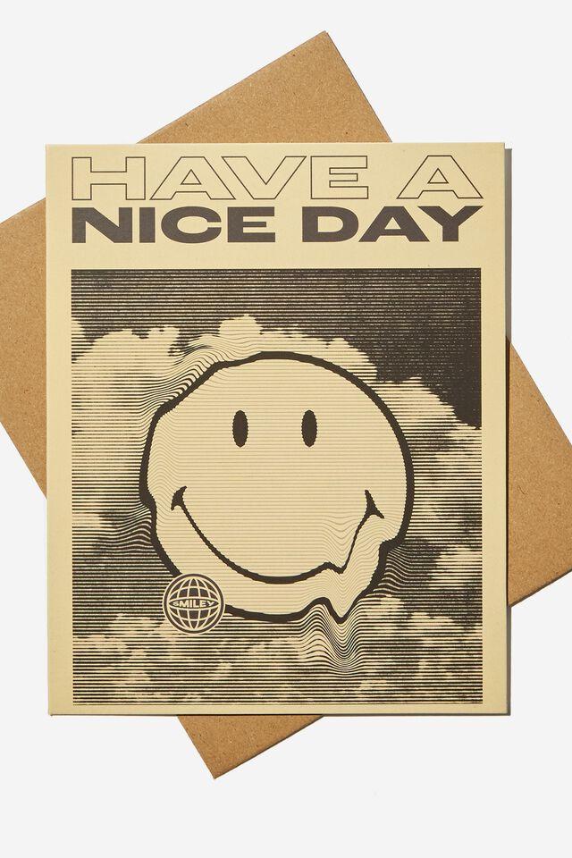 Smiley Nice Birthday Card, LCN SMI HAVE A NICE DAY SMILEY