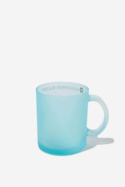 16Oz Glass Mug, HELLO SUNSHINE