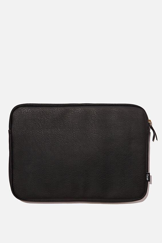 Take Charge 13 Inch Laptop Cover, OVERSIZED POLKA WITH JETT BLACK