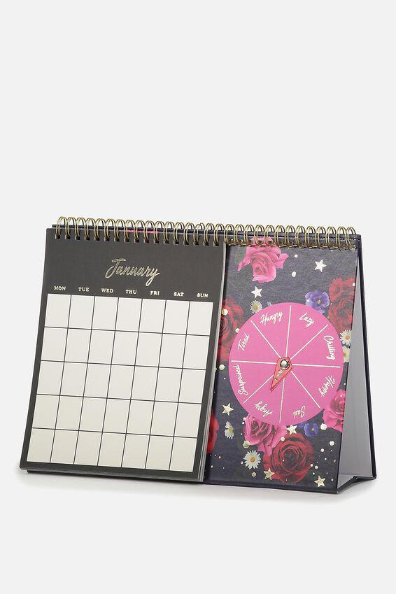 Spin My Wheel Calendar, FLORAL
