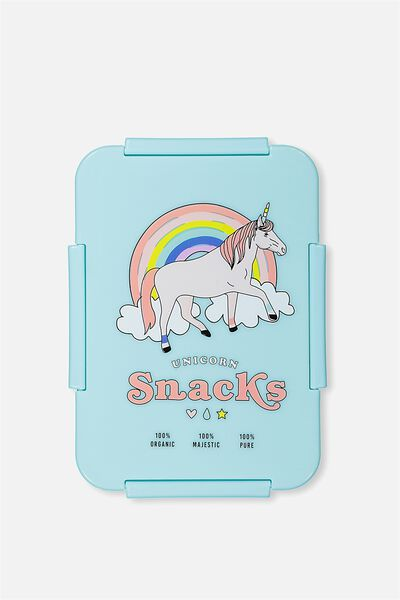 Rectangular Lunch Container, UNICORN SNACKS