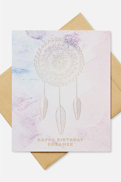 Nice Birthday Card, MARBLE DREAM CATCHER