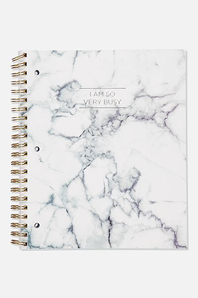College Ruled Campus Notebook, WHITE MARBLE