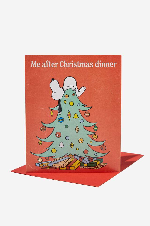 Peanuts Christmas Card 2021, LCN PEA SNOOPY CHRISTMAS DINNER