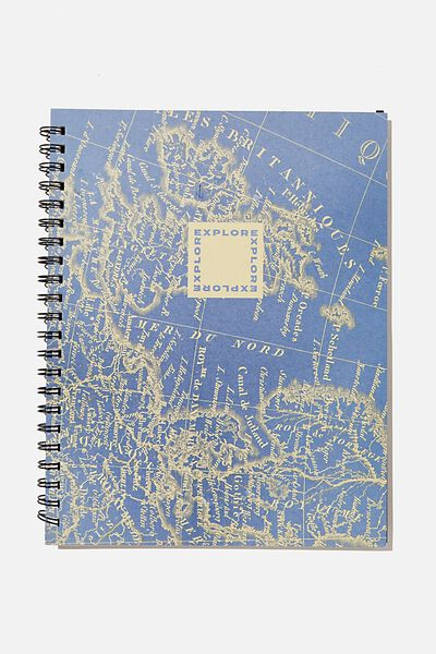 A4 Campus Notebook Recycled, RG UK MAP ILLUSTRATION