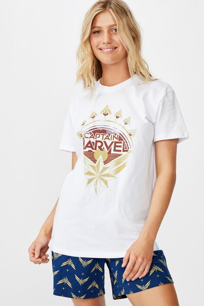 Novelty Pyjama Set, LCN MARVEL CAPT MARVEL