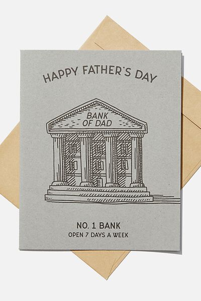 Fathers Day Card 2020, BANK OF DAD
