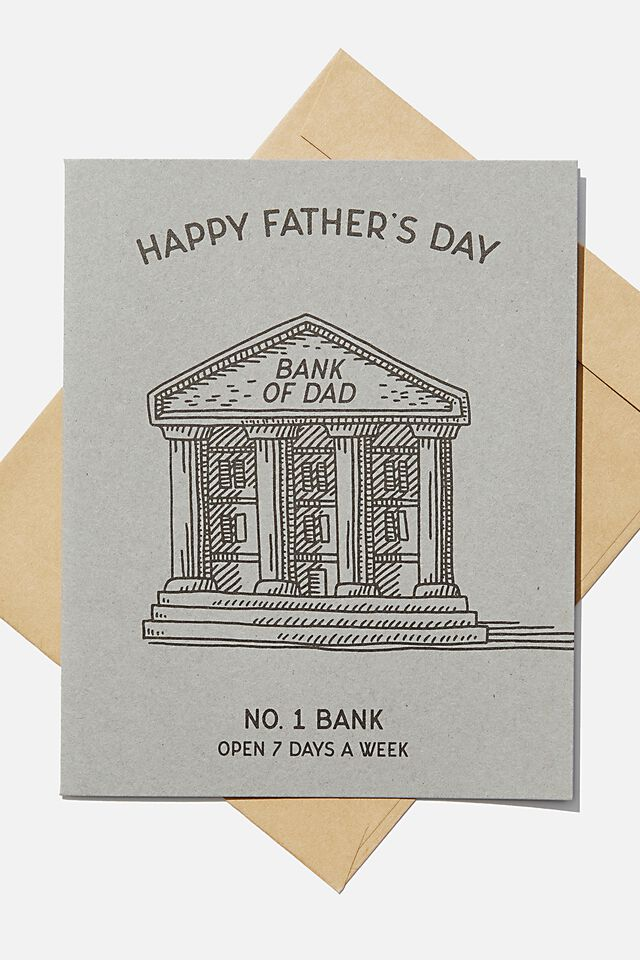 Fathers Day Card, BANK OF DAD